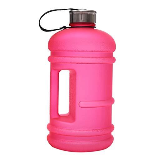 OLT -Water bottle 2,2-Liter-Kappe, große Kapazität, auslaufsicherer Kunststoff, halbe Gallone, Sport-Wasserflasche, Trinkwasserkrug, BPA-frei (Color : Pink)