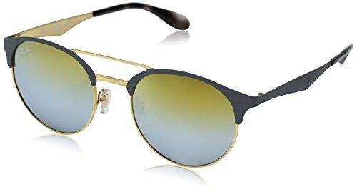 RAYBAN JUNIOR Unisex-Erwachsene Sonnenbrille RB3545 Matte Grey/Gradient Gold, 51