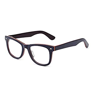 JIM HALO Klassisch RX Brille Rahmen Federscharnier Klar Linse Platz Gläser Damen Herren