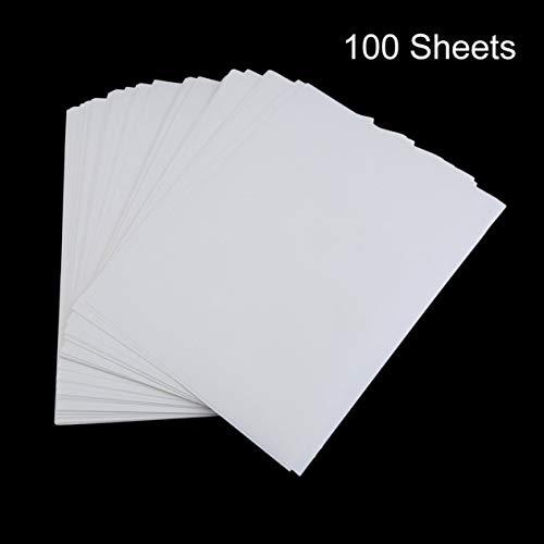 EdBerk74 100 STÜCKE A4-Sublimationsdruckpapier Für Polyester-Baumwoll-T-Shirt Transferpapier zum Aufbügeln Thermodruck Transferzubehör-Weiß -
