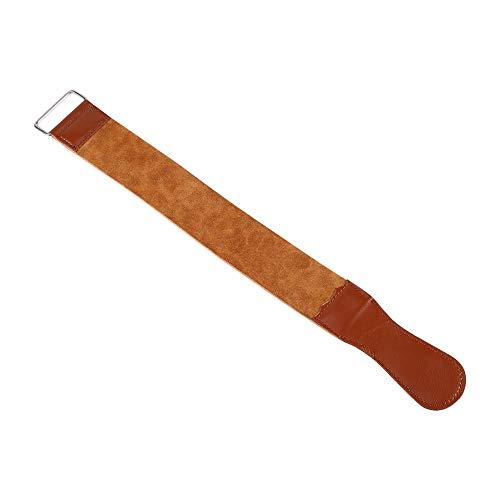 Leder-Streichriemen Kuh Leder-Handstreichriemen gerade Barber Rasiermesser Schärfband Werkzeug -