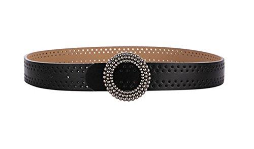 Preisvergleich Produktbild Black Temptation Metall Schnalle Frauen Taille Ketten Dekorative Stretch Elastic für Dress-B