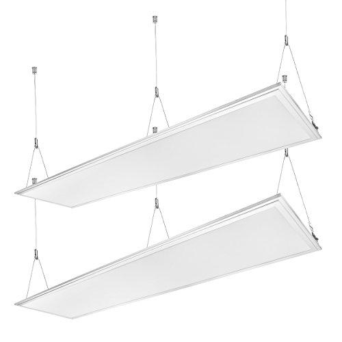 Panel 2 (LE 2er 36W Panel/ 3000lm Ersatz für 80W Glühbirne/ 3000K Warmweiß/ 295*1195mm/ LED Panelleuchte mit Befestigungsmaterial und Treiber/Trafo, Panellampen Deckenleuchte Pendelleuchten)