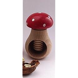 Cascanueces/Amandes/avellanas/diseño de seta rojo/madera de haya de Europa