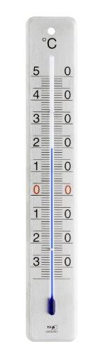 TFA Dostmann Analoges Innen-Außen-Thermometer aus Edelstahl