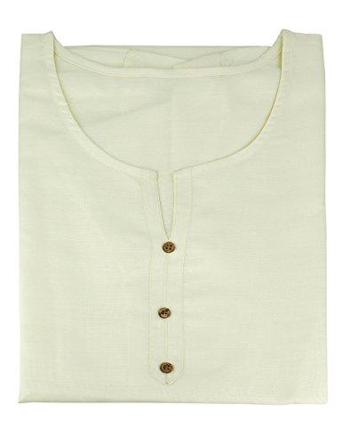 ShalinIndia Indische Designer-Kurti-Tunika für Frauen �?Luxuriöse Kurtis �?Baumwoll- & Viskosetops für Frauen Naturweiss