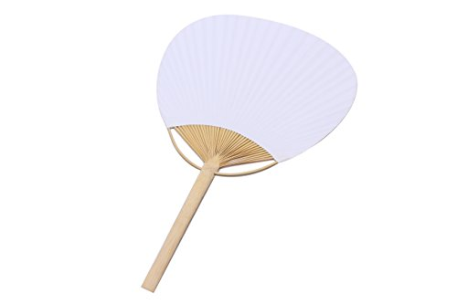 10x weiße Pai Pai Bambus Rolle–Fan Pattern Sonnenschirme Billig Amazon Bast Weide Chinesen...