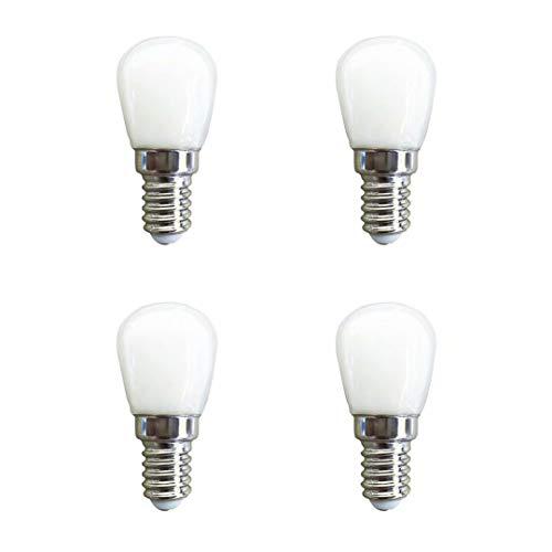 E14 LED Lampe,1.5W 120LM,Kaltweiß 6000K,Entspricht 15W Glühbirnen,AC 220-240V,Nicht dimmbar, E14 Edison Screw LED Leuchtmittel für Kühlschrank/Mikrowelle / Dunstabzug/Nähmaschine,4er-Pack