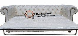 Designer Sofas4u Chesterfield 3 Places Canapé Lit Canapé Cuir Blanc