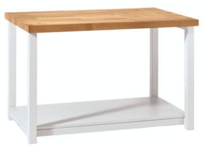 Werkbank kompakt, Buchemassivplatte - Breite 1140 mm, mit Ablageboden - fahrbar - Arbeitsplatz Arbeitstisch Montagetisch Werkbank Werktisch - 2