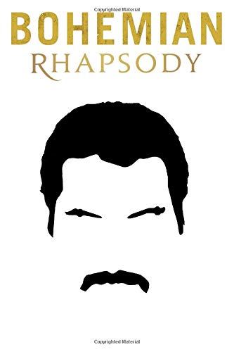 Bohemian Rhapsody: Queen notebook, 100 lined pages, 6x9'' por MovieNotebooks