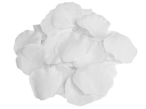 Seta di 100pcs GODHL rosa petali matrimonio partito tabella Home decorazioni fiori (bianco)