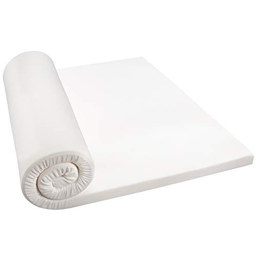 LANGRIA Surmatelas 5cm en Mousse à Mémoire de Forme Respirant avec Housse Amovible, Lit Simple (90 x 190 x 5cm)