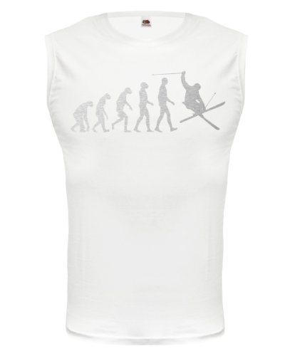 buXsbaum® Tank Top The Evolution of skiing White-Silver