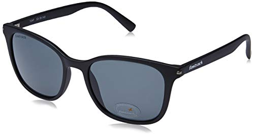 Fastrack UV Protected Square Men's Sunglasses - (P418BK3|53|Black Color Lens)