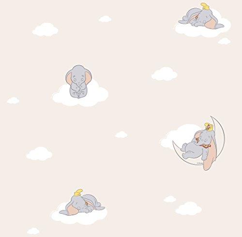 Preisvergleich Produktbild Rasch Textil Papiertapete Tapete - Kollektion Disney Fantasy Deco U30203 Dumbo Elefant beige