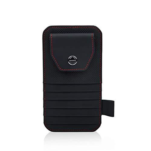 WYUE Autogläser-Clip, Autoglas-Box-Halter, Auto-Multifunktions-Sonnenblende-Kartenhalter,Beige