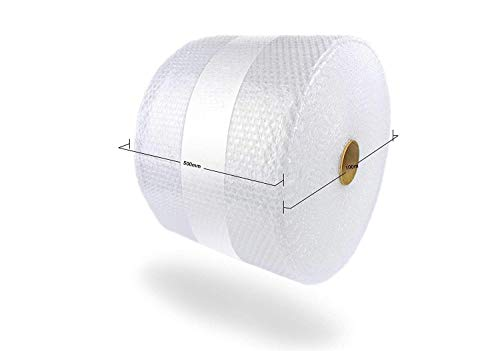 500mm x 100m Roll of Quality Bubble Wrap Roll (Small Bubbles) Made in The UK