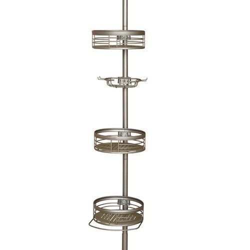 Tension Pole Caddy (Zenith 3-Shelf Tension Pole Caddy, Satin Nickel by Zenith Products)