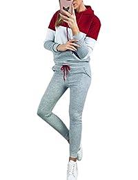 Yingshu Conjunto de Chándal de Ropa Deportiva Mujer 2piezas Jersey y Pantalón atlético Conjunto de Sudadera de Gimnasia para Hombre