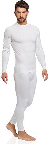 Ladeheid Herren Funktionsunterwäsche lange Unterhose thermoaktiv 05 15 Weiß