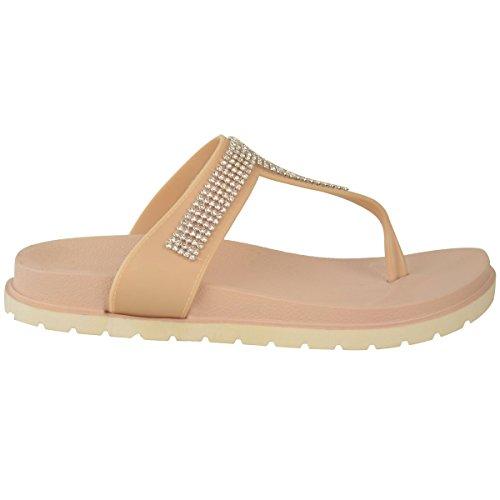 Verano Mujer Jalea Sandalias Correas Zeppa Acolchado Comodidad Zapatos Cuero Números