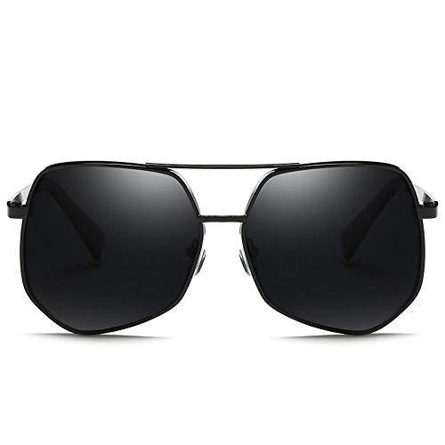 fuqiuwei Sonnenbrillen Unregelmäßige Sonnenbrille Weibliches Großes Gesicht Quadrat Polygon Quadrat Sonnenbrille