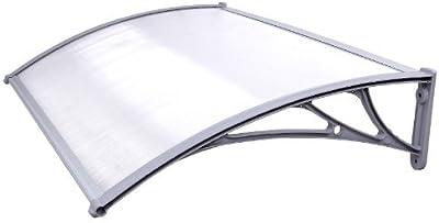 Songmics Toldo para terrazas Marquesina Canopy para puertas 125 x 75 cm GVH017