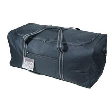 Jazzi Black Sports Holdall Holiday Travel Weekend Overnight Bag