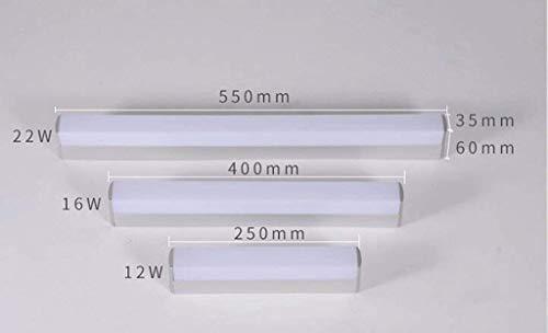 Chuan Han LED Wandleuchte Postmodern Minimalistische Nordic Wasserdichte Nachttischlampe Spiegel Schrank Bad Spiegel Lampe Bad Lange Bar,Weißes Licht-25cm