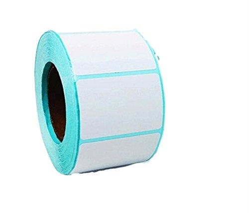 Poorhappy Kreativ und Stilvoll Hohe Qualität Selbstklebende Papier Thermopapier Aufkleber Barcode Drucker Papier (ca.700pcs, 40x30mm)