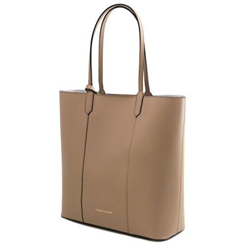 Tuscany Leather Dafne Borsa shopper in pelle Nero Rosso