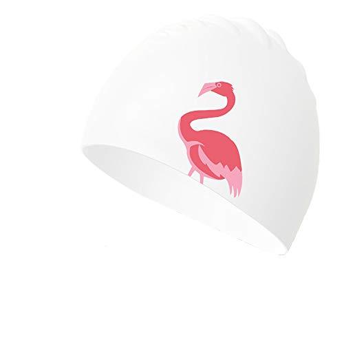 kikomia Damen Herren Elastisch Schwimmkappe Wasserdicht aus Silikon Badekappe Retro-Stil Badehaube FüR Strand Oder Schwimmbad Guter Tragekomfort Lange Haare HeißE Quellen Pattern3
