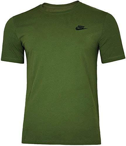Nike Core Tee Herren Sport Slim Fit Fitness Baumwolle Shirt T-Shirt Grün, Grösse:L