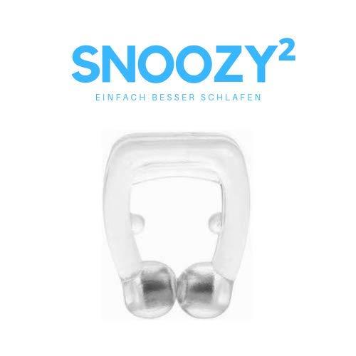 SNOOZY® Premium Nasenring gegen Schnarchen - Das Original - Top Schlafhilfe - Anti-Schnarch Clip - Schnarchstopper - mit Aufbewahrungsbox I *Verbesserte Funktionalität*