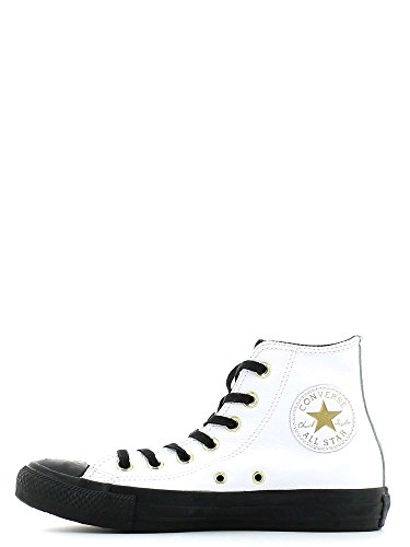 CONVERSE ALLA STAR HI LEATHER WHITE Bianco e nero