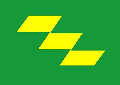 Preisvergleich Produktbild Flagge Präfektur Miyazaki | Querformat Fahne | 0.06m² | 20x30cm für Diplomat-Flags Autofahnen