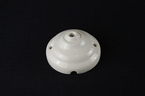 Rosetta rosone copriforo in ceramica (con foro centrale) - 6,6 cm