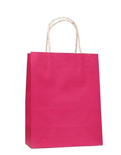 12x 9x 4inch- Kraft Sacchetti Di Carta Sacchetti Sacchetti Regalo Sacchetti Borse Shopper merce al dettaglio Confezione da 10pcs rosa rosso