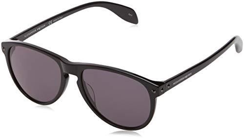 Alexander mcqueen am0098s 001 55, occhiali da sole uomo, nero (001-black/grey)