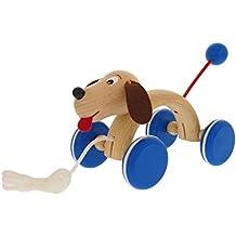 Nachziehtiere EMILO 30015 Holz-Hund zum Nachziehen