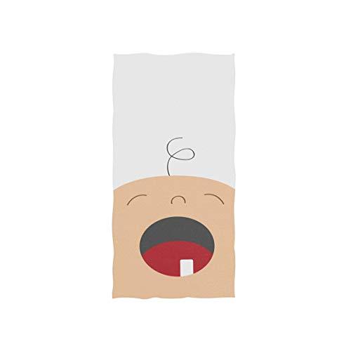 Niedliche kleine Baby Cartoon Kid Soft Spa Strand Badetuch Fingerspitze Handtuch Waschlappen Für Baby Erwachsene Badezimmer Strand Dusche Wrap Hotel Reise Gym Sport 30x15 Zoll
