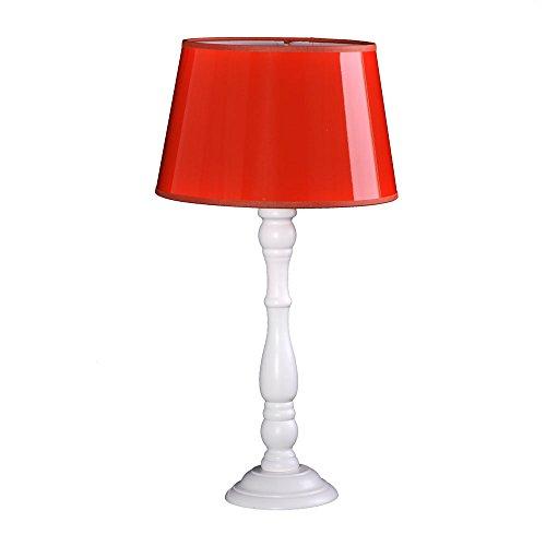 Tischleuchte Shabby chic Boston Weiß 8005329 Lampenschirm Lack pvc Orange -