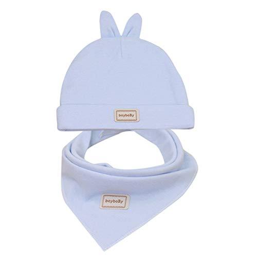 Liqiqi  bambino cappello neonato inverno primavera regalo cappello+bavaglini set   carino caldo orecchie di coniglio cappello casual cappello caldo bambini neonato ragazze unisex