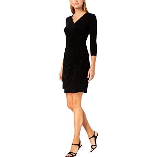 Calvin Klein Womens Ruffled V-Neck Wrap Dress Calvin Klein-wrap