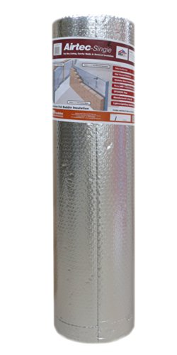 Airtec Single Luftpolsterfolie, mehrlagig, 1050 mm x 25 m x 3,7 mm