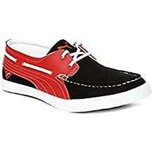 Puma Men'S Yacht Syn DP Black-High Risk Red Running Shoes - 7 UK/India (40.5 EU)