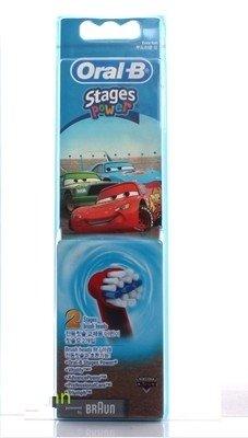 Image of Braun Oral-B Stages Power Kids Replacement Brush Heads Disney Cars 2 Pack Pack D2010 4739 D10511 D4510 D12013 D12013 D12523 D17525 D18 D19 OC18 D8011 D9525 D9511 D25 D30