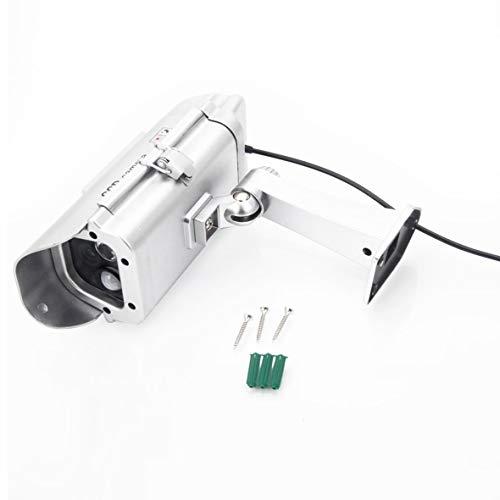 Heaviesk Solarbetriebene Sicherheits-Dummy-Kamera mit Taschenlampe Menschlicher Sensor Gefälschte Überwachungssimulationskamera A-41