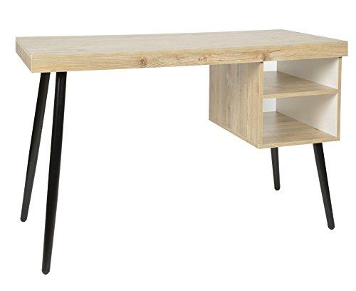 Ts-ideen 2831 scrivania di design da ufficio studio tavolo da computer color frassino.